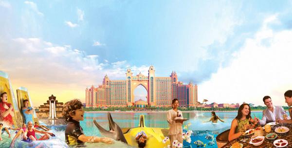 خليج الدلافين في دبي منتجع اتلانتس