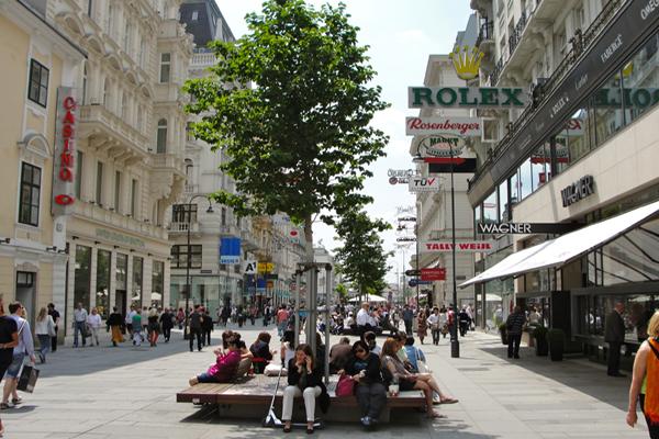 شارع المشاة في فيينا