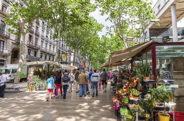شارع الرامبلا في برشلونة