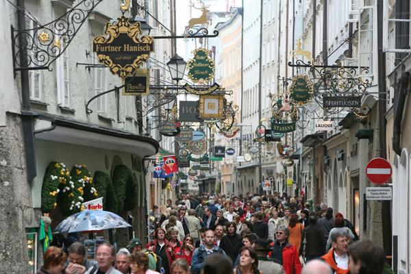 شارع المشاة والتسوق في سالزبورغ