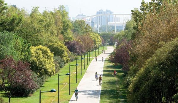 حدائق توريا في فالنسيا اسبانيا